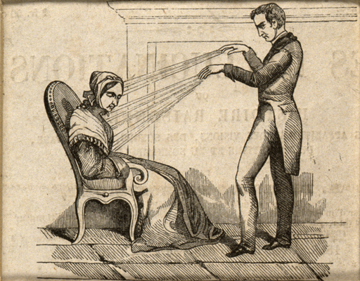 A practictioner of Mesmerism using Animal Magnetism